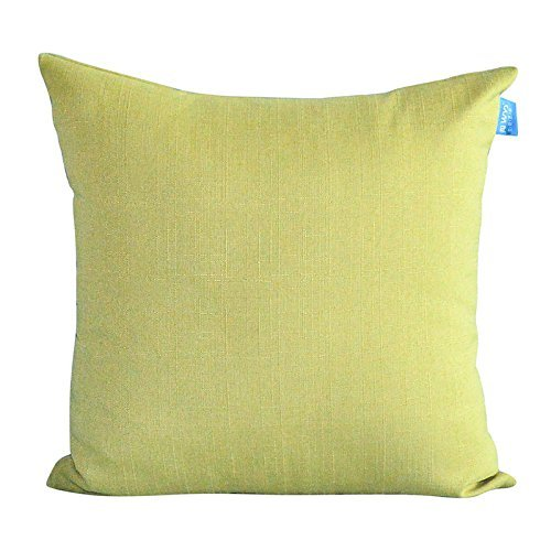 HOMEE Modern and Minimalist Upscale 4.5-60S Ma Pure Color Atmospheric Pillow Pillow Side Sleeper Candy Pillow,The Yellow And Green,30X50Cm by HOMEE
