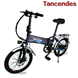 "Image of Tancendes Folding Electric Bike 20"" Lithium Battery 48V 250W Brushless Motor with Aluminium Alloy Frame"