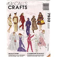 "OOP McCall's Pattern 7932. Clothes for 11 1/2"" Fashion Doll Such As Barbie. Bridal Gown; American Indian Costumes; Coats; Hat; Winter Wear; Poodle Skirt; Etc"