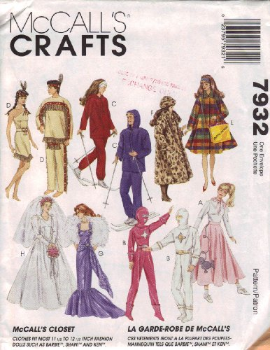 OOP McCall's Pattern 7932. Clothes for 11 1/2