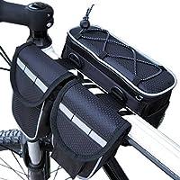 Disconano Bike Bicycle 3 in 1 Multi-function Frame Tube Waterproof Pannier Bag Shoulder Bag