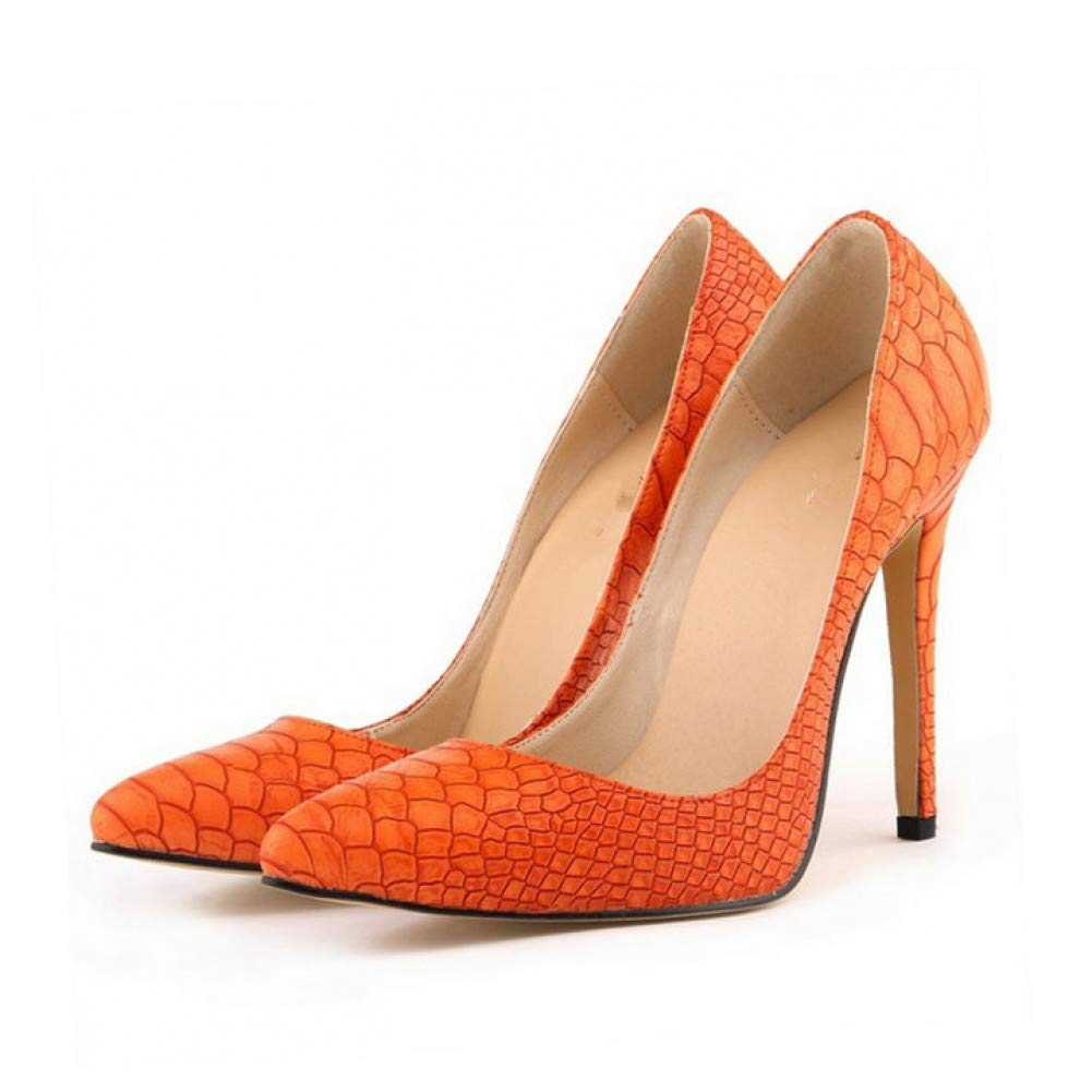 orange pumps FASZQ shoes Woman High Heels Ladies shoes 12CM Heels Pumps Women shoes Black bluee Party Wedding shoes Stiletto