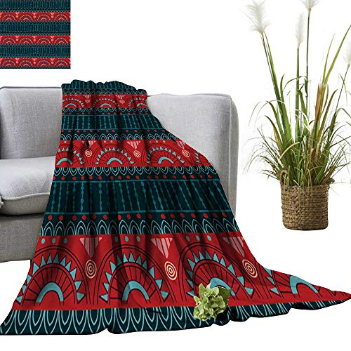 YOYI Super Soft Blanket Tribal Seamless Pattern It can be Used for Cloth,Jackets,Bags,notebooks,Cards Bedsure Flannel 60