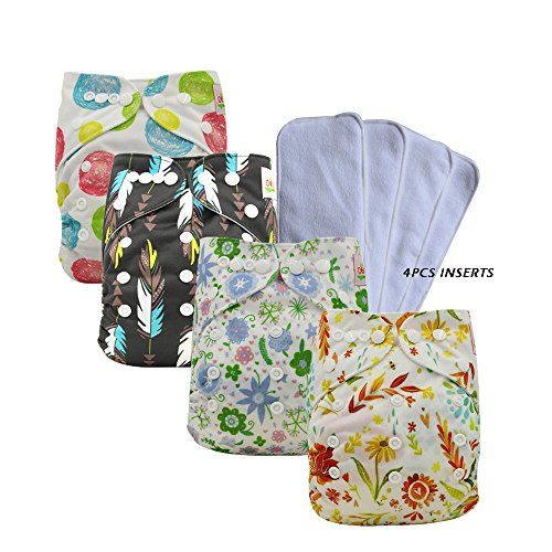 Ohbabyka Adjustable Unisex Baby Cloth Pocket Diapers All in one with Soft Cloth - Canada Epacket