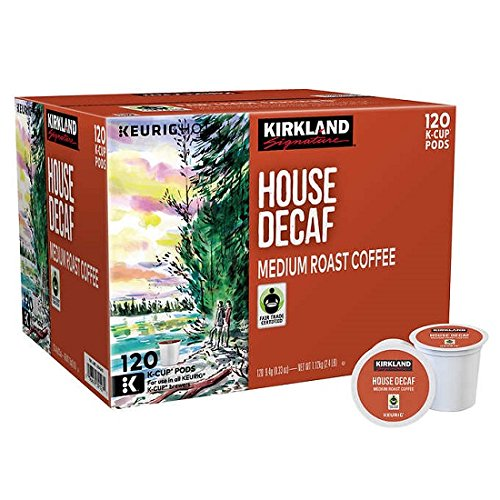 Decaf Coffee Pods (Kirkland Signature House Decaf Coffee 120 K-Cup Pods)