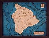 Beautifully Detailed! Hawaii Big Island 3D Wood Map