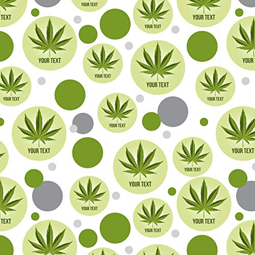 - GRAPHICS & MORE Personalized Custom 1 Line Marajuana Leaf Premium Gift Wrap Wrapping Paper Roll