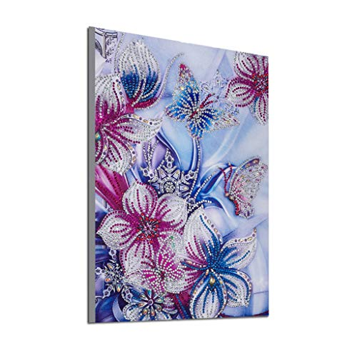 Paint By Number Canvas Ball - Diamond Painting, DIY 5D Embroidery Modern Paintings Cross Stitch Partial Drill Floral Paint Rhinestone Pasted Arts Craft Kits Home Decor Kids Gift Bedroom Living Room 30x40cm (Multicolor, 30x40cm)