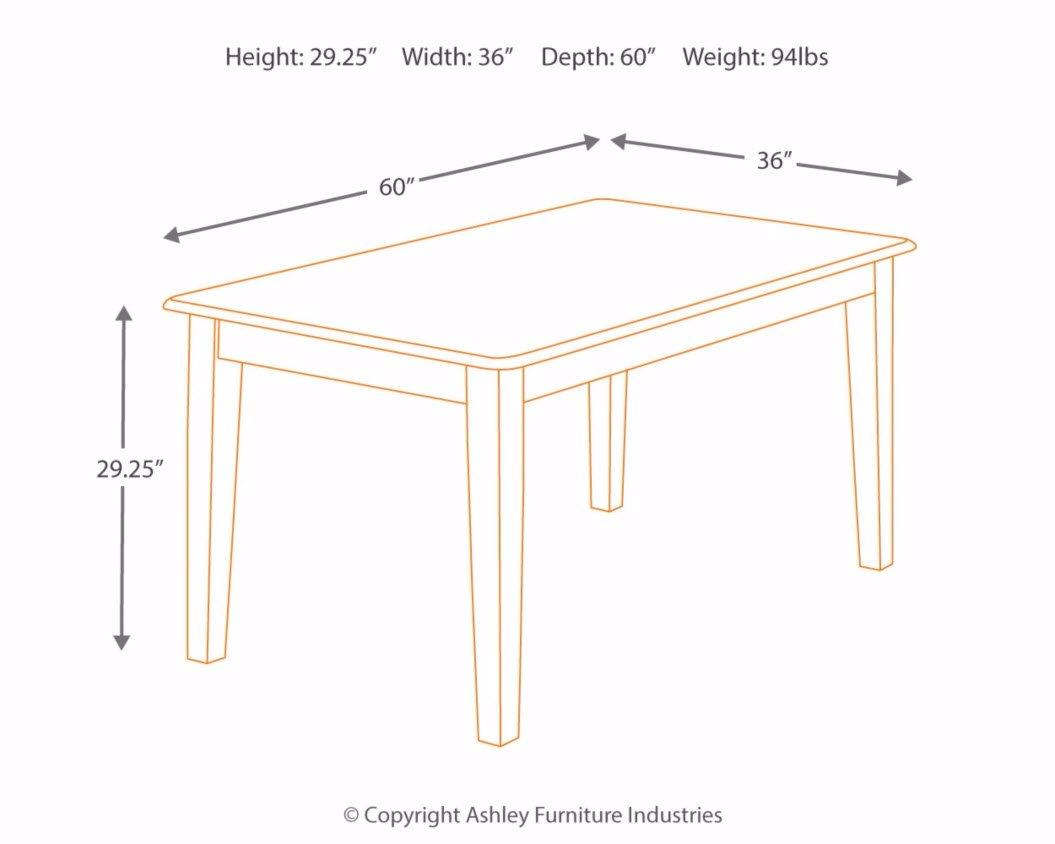 Ashley Furniture Signature Design - Berringer Rectangular Dining Room Table - Vintage Casual - Rustic Brown