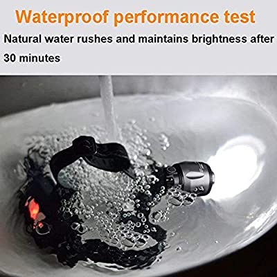 LED Head Torch,Super Bright Rechargeable 3000 Head Lithium Battery T6 Flashlight,Zoomable Waterproof Headlight,for Running, Fishing, Camping, Hiking