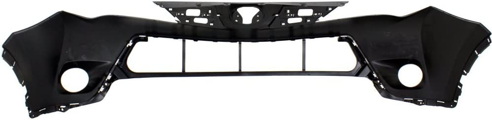 Front Upper Bumper Cover Primed Compatible with 2013-2015 Toyota RAV-4