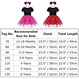 Baby Girls Polka Dots Tulle Spliced Ballet Dress Bowknot Headband Birthday Party Princess Tutu Dress 1-6T