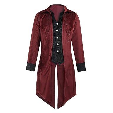 Oyedens Gothic Herren Frack Jacke Goth Steampunk Uniform