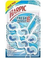 قطع تنظيف المرحاض فريش باور 6 مارين سبلاش من هاربيك، عبوة اقتصادية، 2×39 غرام