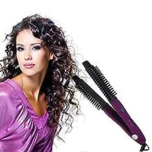 TR.OD 2016 Hair Curling Ionic Technology 4-in-1 Styler -Straighten,Cutting Edge,Styler & Dryer - Best Ionic, Professional Hair Straightener Brush Salon Edition Brush For Hair,No Damage Styler Styling Dryer Comb (Purple)