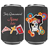 Custom Quinceanera Can Coolers - Printed Both Sides - Add Name and Date (500)