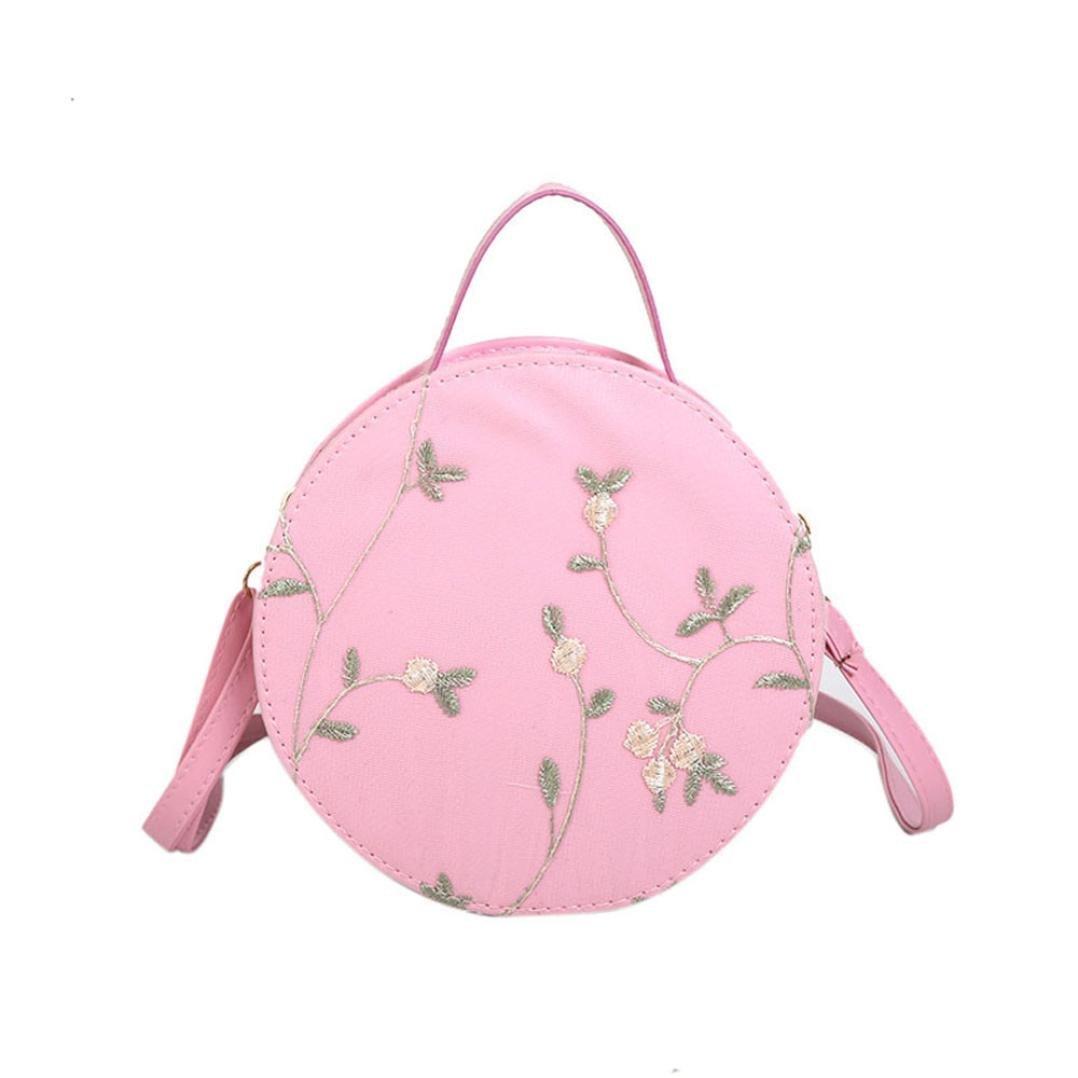 Big-Mountain Women Crossbody Bags Embroidery Round Circle Shape Handbags for Girl