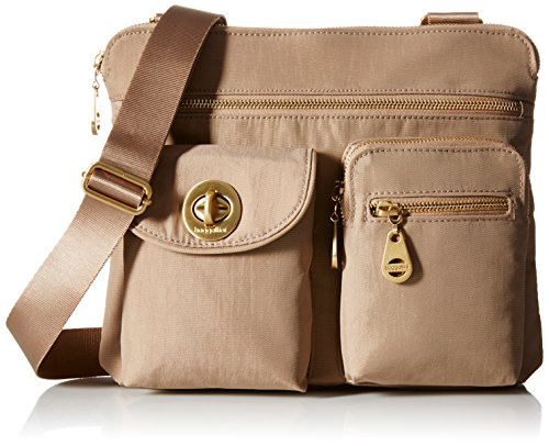 Baggallini Sydney Travel Crossbody Bag Gold Hardware, Beach, One Size