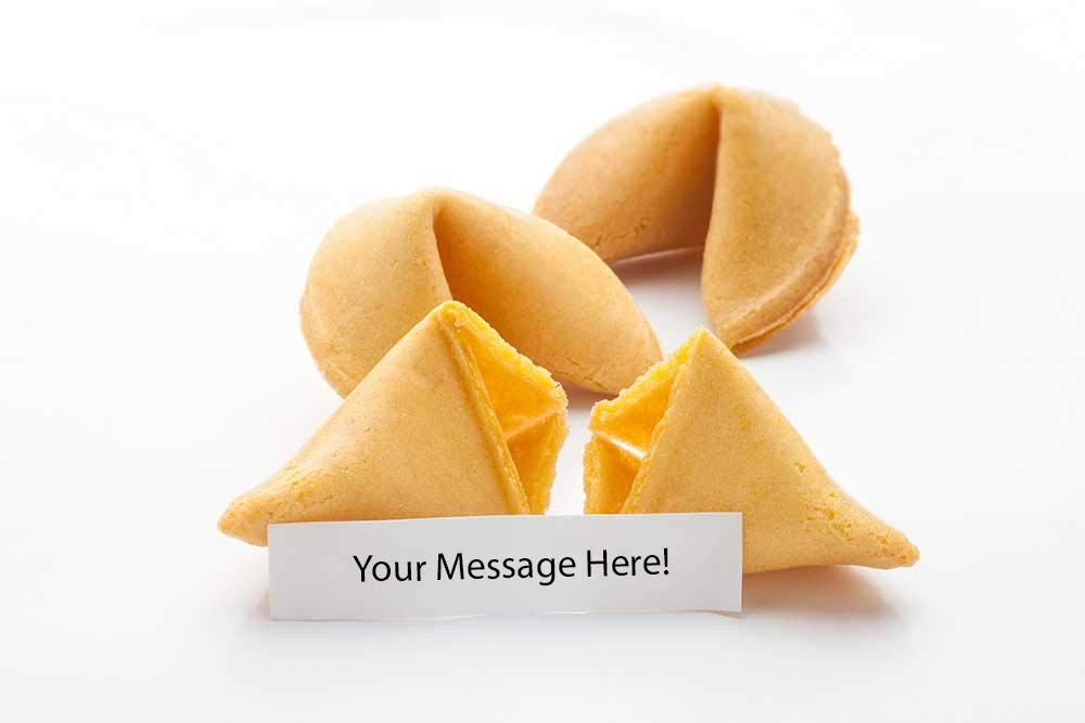 250 Custom Fortune Cookies - Individually Wrapped - Use Your Own Messages - (250 Cookies)