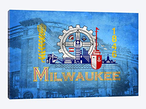 Miller Park Wisconsin - Milwaukee Wisconsin (Miller Park) - Canvas Wall Art Gallery Wrapped 18