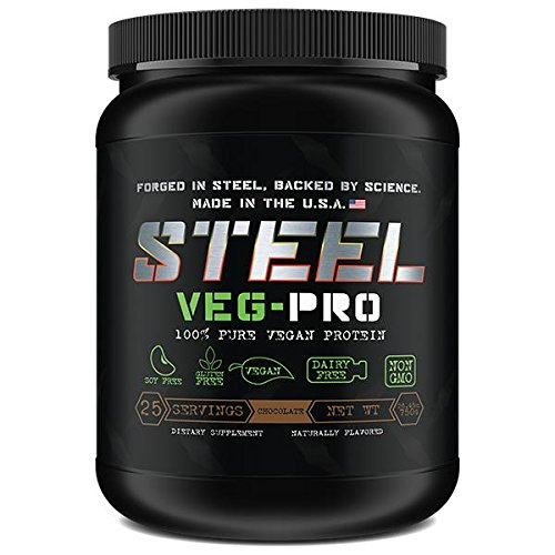 Steel Supplements VEG-PRO Vegetable Pea Protein Isolate Powder Supplement Natural Organic Vegan 2.5 Pounds (Chocolate)
