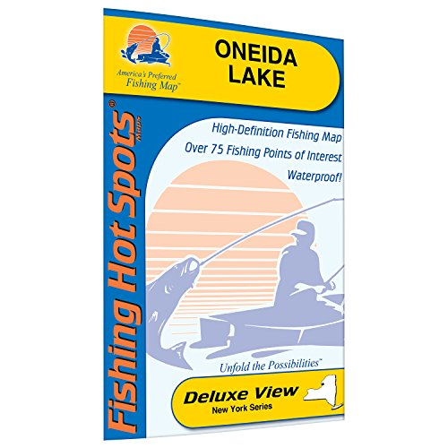 Oneida Lake Fishing Map by Fishing Hot Spots