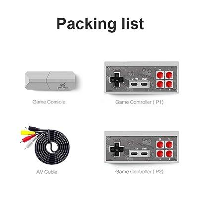 Anjuley - Consola de Videojuegos Y2 Pro 4 K integrada en 568 Juegos clásicos, Consola Retro Mini Consola con Salida inalámbrica Doble Jugador: Hogar