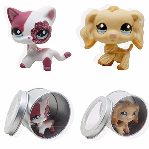 Porcupine Dog Costume (tongrou 2pcs #1716 #2291 Littlest Pet Shop Cocker Spaniel Puppy Dog & Pink Cat LPS Rare)
