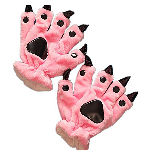 Unisex Paw Claw Winter Finger Gloves for Halloween