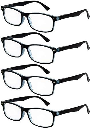 TBOC Gafas de Lectura Presbicia Vista Cansada - [Pack 4 Unidades ...