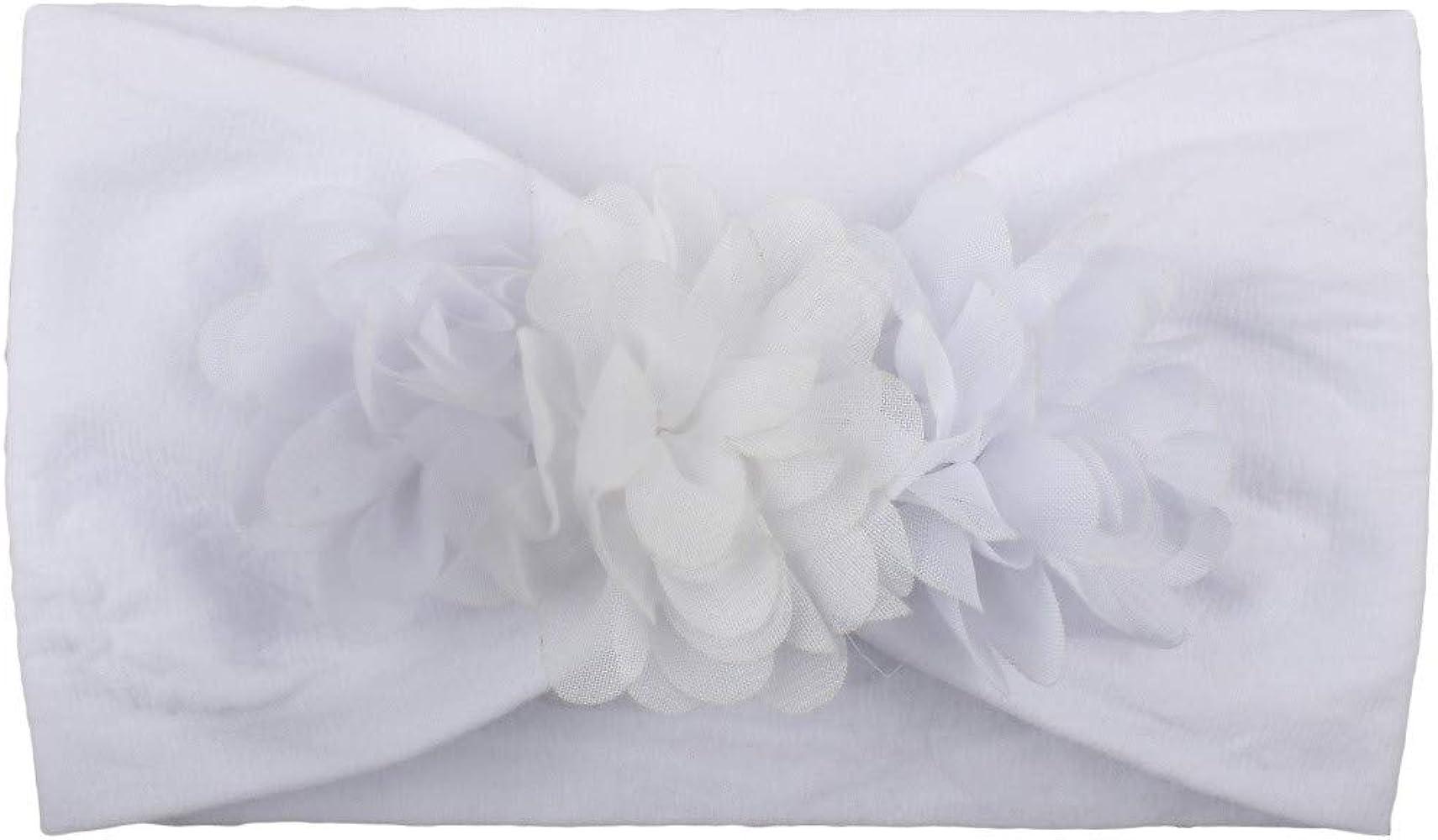 fiosoji bebé-niñas diademas de algodón suave arco anudada Hairband ...