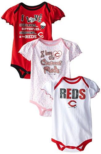 MLB Girls Infant My Team 3-Piece Onesie Set