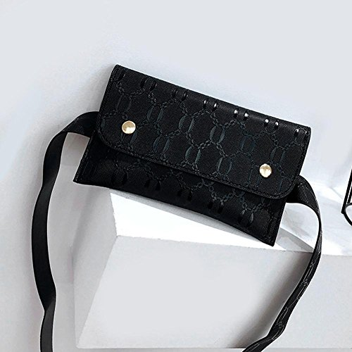 Black Women BagsWidewing Flap Handbags Waist Fanny Belt Leather Chest Small Pack PU Phone xqrZFwx