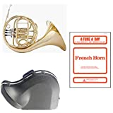 Band Directors Choice Single French Horn in F - A Tune A Day French Horn Pack; Includes Student French Horn, Case, Accessories & A Tune A Day French Horn Book