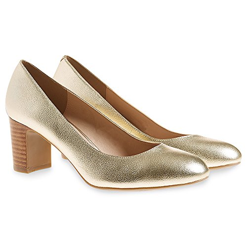 Marks & Spencer Damen Durchgängies Plateau Sandalen mit Keilabsatz Gold
