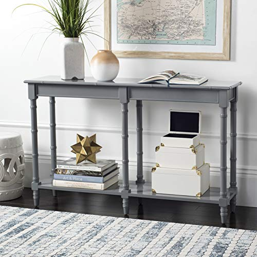 - Safavieh CNS3500C Home Collection Noam Grey Modern Coastal Bamboo Console Table,