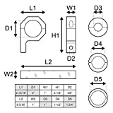 "LAMPHUS Cruizer Horizontal Bar Clamp Mounting Kit 1""/ 1.5""/ 1.75"" (Includes 1 clamp)"