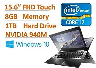 "Lenovo Flex 3 15.6"" Full HD Premium Convertible Touchscreen Laptop PC - Intel Core i7-6500U, 8GB RAM, 1TB HDD, NVIDIA GeForce 940M, 802.11ac, Webcam, USB 3.0, HDMI, Windows 10 (Certified Refurbished)"