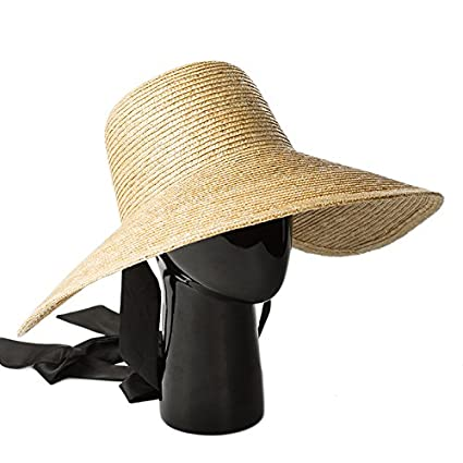 Amazon.com   ALWLj Wide Brim Hat Women Summer Vintage Sun Hat with Ribbon  Ties Beach Straw Bucket Hatsfor Ladies Floppy Hats Elegant   Sports    Outdoors 05586b9d2fa