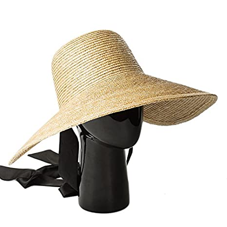 Amazon.com   ALWLj Wide Brim Hat Women Summer Vintage Sun Hat with Ribbon  Ties Beach Straw Bucket Hatsfor Ladies Floppy Hats Elegant   Sports    Outdoors 8ef44e3dc509