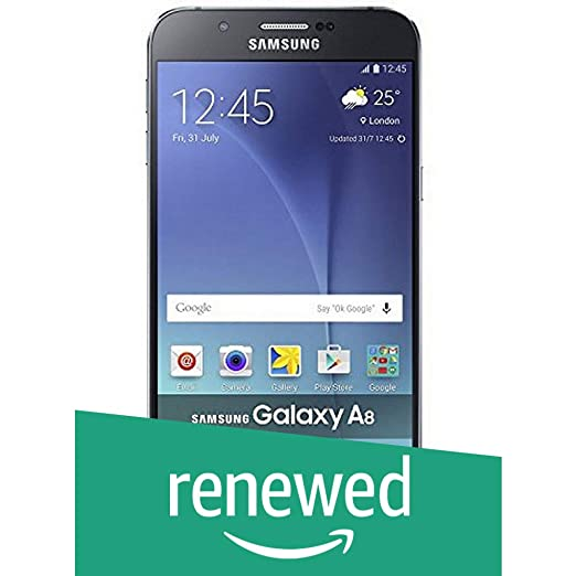 (Renewed) Samsung Galaxy A8 4G (Midnight Black) Smartphones at amazon