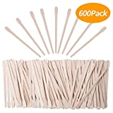 extra small wax sticks - Senkary 600 Pieces Wooden Waxing Sticks Wax Sticks Wax Applicator Sticks Wax Spatulas Wood Craft Sticks Small for Hair Eyebrow Nose Removal