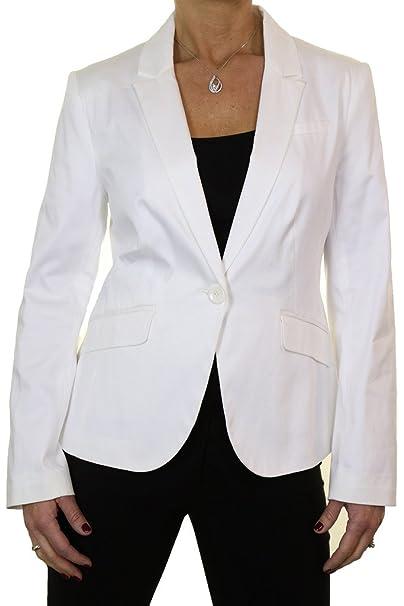 ICE (5128-1) Chaqueta Blazer verano satén de algodón Off White (38