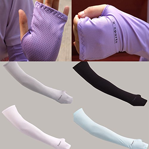 Sport Arm Cooling Sleeves Gloves UV Sun Protection Cover Golf Driving Basketball