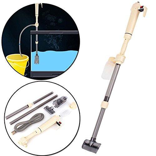 Zerone Aquarium Cleaner, Electric Gravel Cleaner eau filtre Rondelle Siphon vide pompe à eau 520L/h pour Aquarium Fish Tank, réglable en hauteur 40-95cm