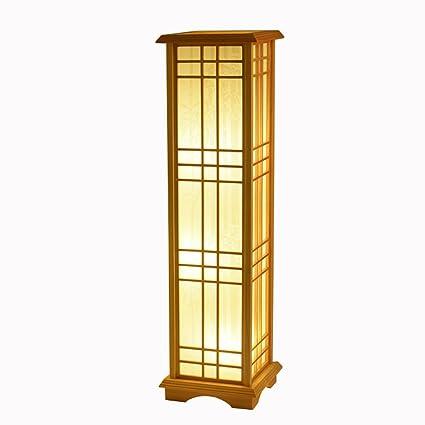 TangMengYun Lámpara de pie de madera de estilo japonés ...
