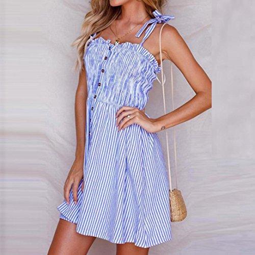 Kleid mit gestreiftem rock