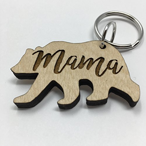 Mama Bear Keychain Mother's Day Gift | Cute Last-Minute Small Gift for Mom Key-Ring