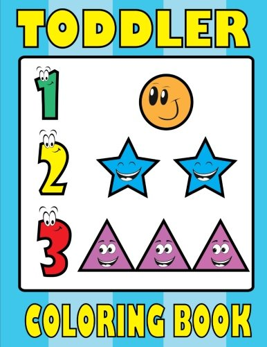 Toddler Coloring Book Numbers Shapes and counting