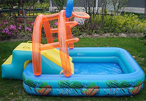 Uhruolo Inflatable Paddling Pool,Water Games Centre with Slide for Kids Slide by Uhruolo (Image #5)